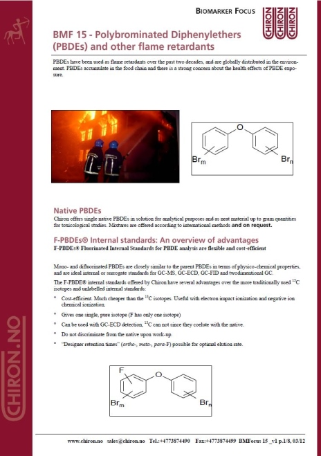 BMF 15 - Polybrominated Diphenylethers (PBDEs) and other flame retardants